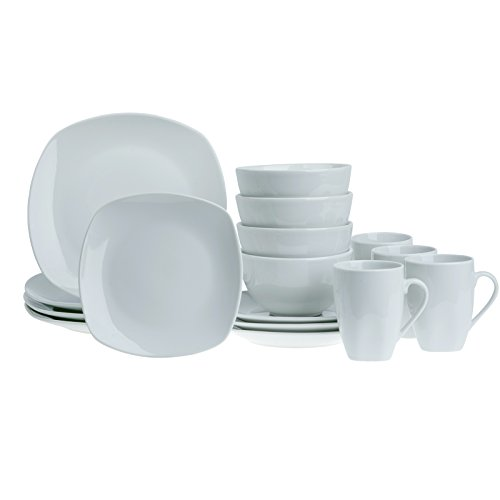Tabletops Square 16-Piece Dinnerware Set, Service for -