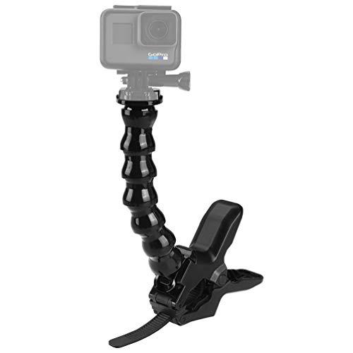 ALLCACA Jaws Flex Clamp Mount Camera Flexible Clip Adjustable Gooseneck Clamp Mount, Suitable for Gopro, Black -