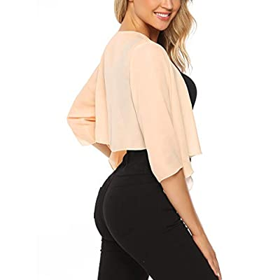 Abollria Women Chiffon Loose Casual Comfortable Breathable Thin Cardigan at Women's Clothing store
