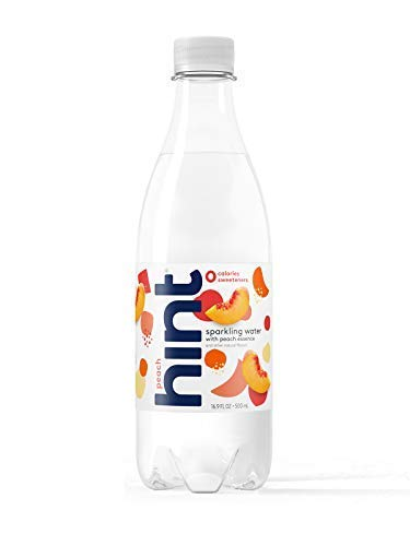 Hint Fizz Sparkling Water Peach (Pack of 12) 16.9 Ounce Bottles Unsweetened Peach-Infused Sparkling Water  Zero Sugar Zero Calories Zero Sweeteners Zero Artificial Flavors ()