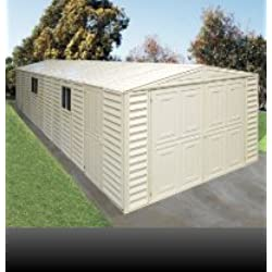 US Polymers 01314 10 ft. x 23.5 ft. Vinyl Garage with Foundation Kit