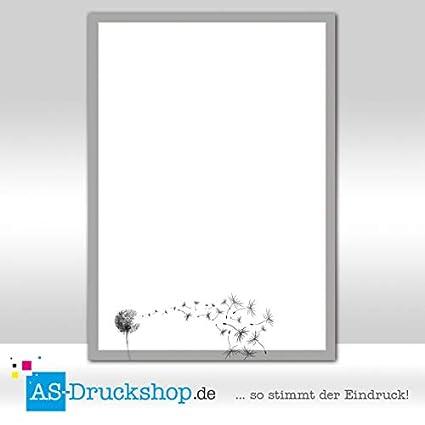 Designpapier Trauer Pusteblume 90 G Offsetpapier 100 Blatt Din A4