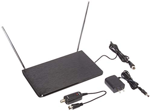 (General Electric 34342 Router-Style Amplified Indoor Antenna, Black)