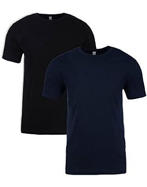 6210 T-Shirt - 2 Pack, Black+MidnightNavy, XL