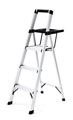 Profile Step - Rubbermaid RMA-3XST 3-Step Lightweight Aluminum Step Stool with Oversized Project Tray