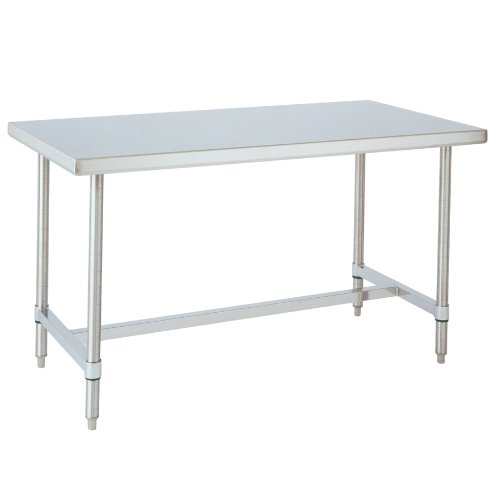 Metro WT366HS HD Super Stainless Steel 304 Standard Worktable with Bottom H-Frame, 60'' Length x 36'' Width x 34'' Height