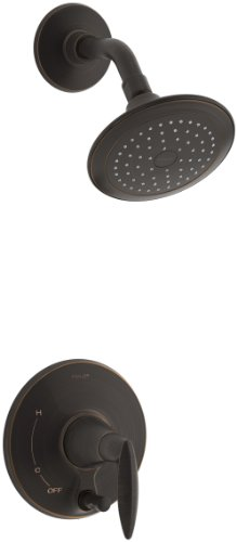 Kohler Button - KOHLER T45108-4-2BZ Alteo Shower Trim with Push-Button Diverter, Oil-Rubbed Bronze
