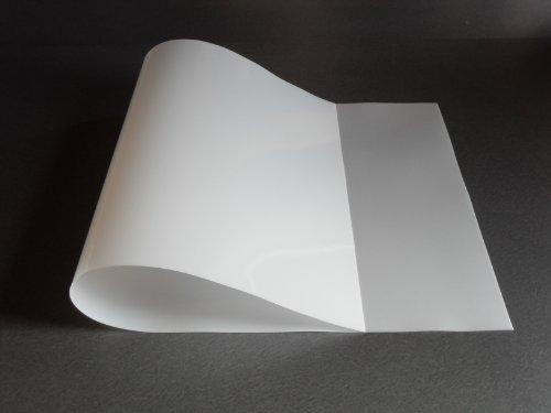 (1 Flexible Translucent PE Plastic Sheet 48x24x1/30 (0.03) DIY Stencil Pattern )