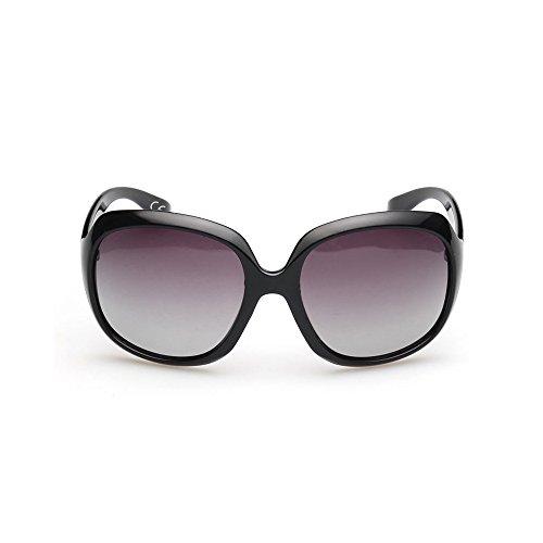 De With Mode Verres Grand WS025 BVAGSS Polarisées Lens Cadre Rétroviseur Rétro Gray Lunettes Soleil Black Frame Femmes 5ww6ITq