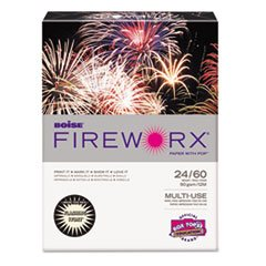 Boise Fireworx Colored Paper, 24 Lbs, 8-1/2 x 11 Inches, Flashing Ivory, 500 Sheets/Ream (MP2241IY)