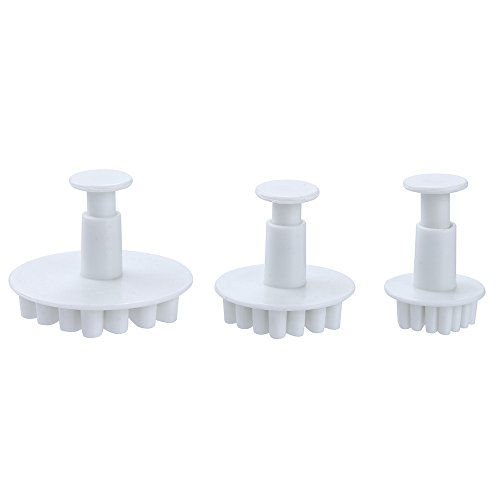 aliveGOT 3Pcs Snowflake Cookie Cutters Decorating Fondant Embossing Tool Snowflake Plunger Cake Cutter ()