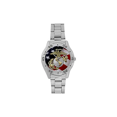 Birthday/Christmas Day Gifts USMC United States Marine Corps Analogue Stainless Steel Men's Watch