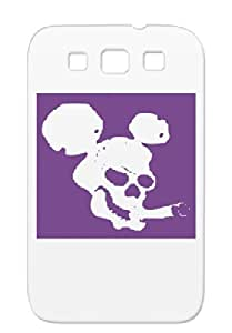 TPU Mickey Black Halloween Birthday Head Mickey Funny Ear Funny Comic Death Mouse Disney Cigarette For Sumsang Galaxy S3 Tearproof Case Cover