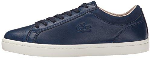 Lacoste Women's Straightset W1 Fashion Sneaker, Navy, 6 M US