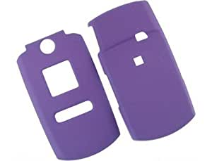 Rubber Coated Plastic Protector Cover Case Purple For Samsung Renown U810