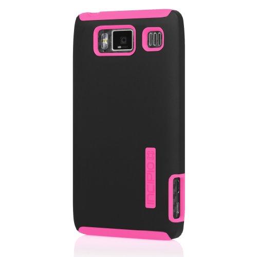 Incipio VCMT-214 Dual Pro Case for Motorola Droid RAZR HD - 1 Pack - Retail Packaging - Black/Neon Pink (Case Silicrylic Polycarbonate)