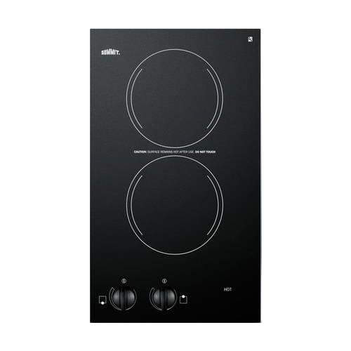 "Summit CR2110 12"" Electric Cooktop with 2 Burners"