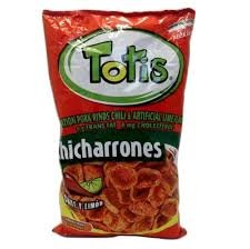 Totis Snack Chicharrones Pork Rinds Chile Limon 5.3 Oz Pack of 2