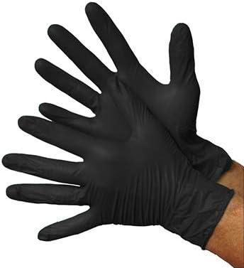 Black Industrial Grade Powder Free Nitrile Gloves, 100/BX - 5mil - Size XL