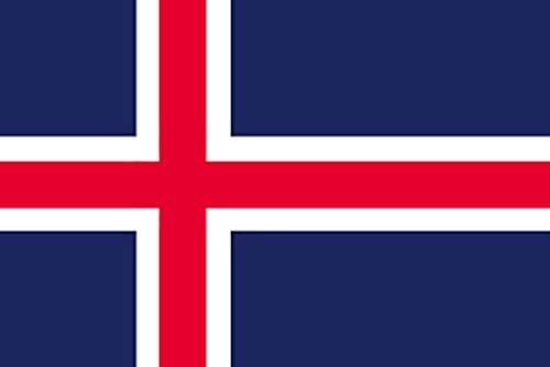 国旗 アイスランド No.2 No.22804(取寄商品)   B01J1NPX9E