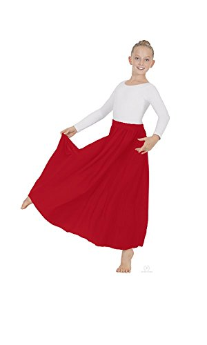 Eurotard Child Lyrical Circle Skirt 13778C RED-OSFA
