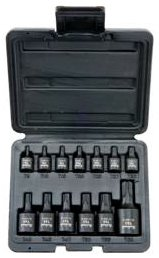 Blackhawk TS-1213S - Impact Socket Set - Imperial Measurement System, Number of Sockets: 13 PC, Black Oxide Finish/Coating, Bit Shaft Style, 1/2 in, 1/4 in, 3/8 in Drive Size, Torx Socket