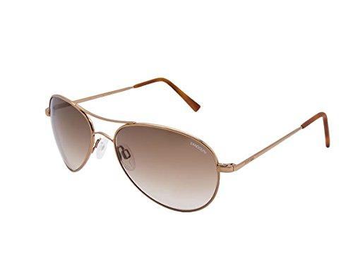 Randolph Women's Amelia AA1C404-NY Aviator Sunglasses, Chocolate Gold, 61 - Ny&c Sunglasses