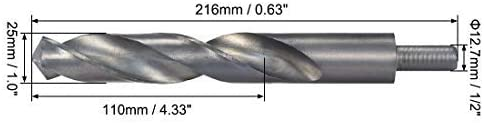 25mm reduced-stem helical drill bits 4241 high-speed steel with 1//2 inch shank 1 pieces