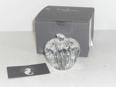 Waterford Apple Paperweight 3 1/2in