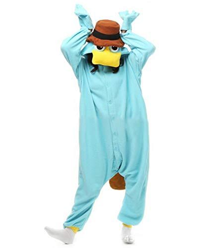 ofodoing Adult Platypus Onesies Pajamas Cosplay Animal Homewear Sleepwear Jumpsuit Costume