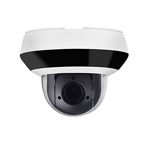 4MP PTZ POE IP Camera OEM DS-2DE2A404IW-DE3, Pan/Tilt/2.8mm~12mm 4X Optical Zoom, 4-Megapixel (2560x1440),Night Vision 20m,SD Card Recording,Outdoor/Home Audio Input Output,IP66 and IK10, H.265+ ()