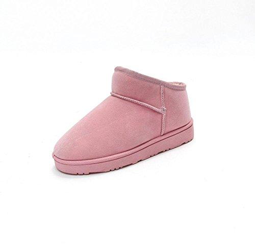 chaudes neige coton pain Chaussures KUKI chaussures femmes en de pour à pink plates femmes velours pour chaussures bottes plus bottes ZnnqxCw7AP