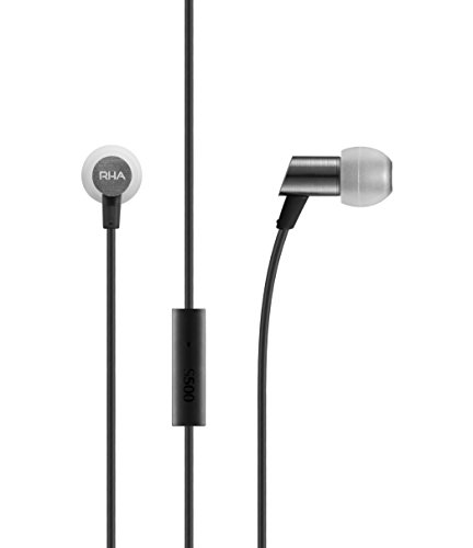 RHA S500 Universal: Noise Isolating Compact In-Ear Headphones with Universal Remote & Microphone