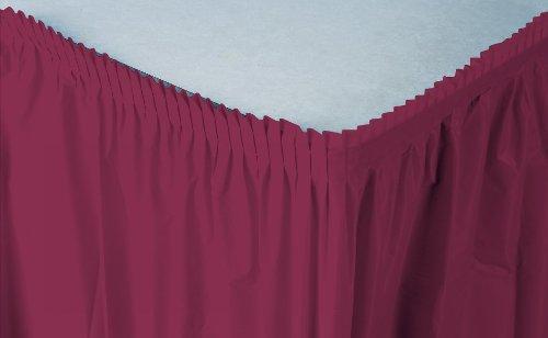 Paper Skirt (Creative Converting Plastic Table Skirt, 14-Feet, Burgundy)