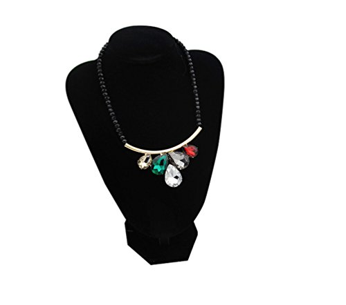 Christmas SWEETIME Women's Sweet Colorful Heart Rhinestone-Studded Alloy Necklace (Daisy And Peach Halloween Costumes)