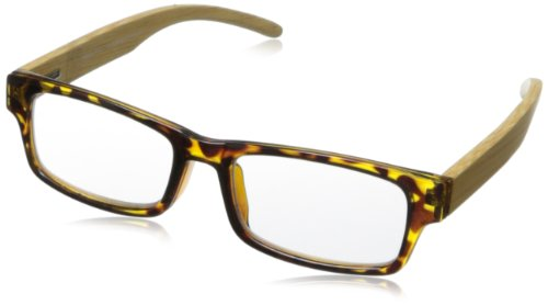 (Peepers Wayfarer Visionary Rectangle Reading Glasses,Tortoise/Bamboo,+3, 45 mm 3)