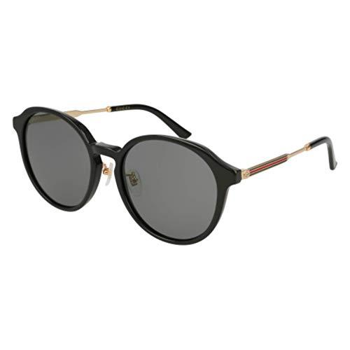 Gucci GG 0205SK 001 Black Plastic Fashion Sunglasses Grey Lens 001 Black Plastic Sunglasses