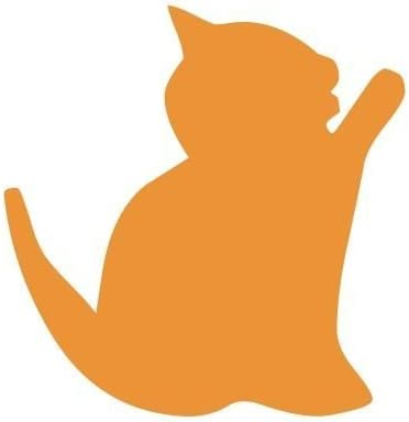 Stencil Aerografía Tattoo Animales 008 gatito Stencil tamaño: 10 x 10 cm Diseño tamaño: 4,5 x 4,6 cm: Amazon.es: Hogar