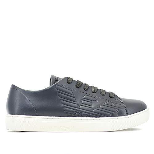 44eu Grigio Da Armani Pelle Fumo x4x238 Art Sneaker Emporio Uomo qP6XWwXz
