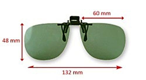 Polarized UV 400 Grey Lenses Clip-on Flip-up - Sunglasses 007