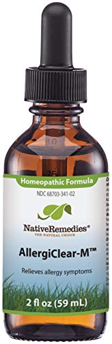 Native Remedies AllergiClear-M - Natural Homeopathic Formula Temporarily Relieves Allergy Symptoms Including Sneezing, Coughing, Red, Water Eyes - 59 mL (Best Over The Counter Medicine For Fluid In Ears)