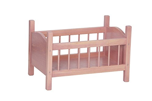 Wood Doll Crib Heirloom Quality Made in the USA, Pink by Clip Clop