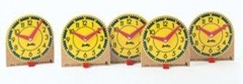 (Carson Dellosa J-209041 Original Mini Clocks 12-Pk Wood)