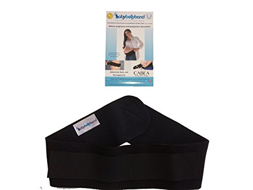Baby Belly Band - Pregnancy & Maternity Support Belt - For Abdominal, Hip, & Back Support - Medium (Up to 44'' Waist) by Cabea (Image #6)