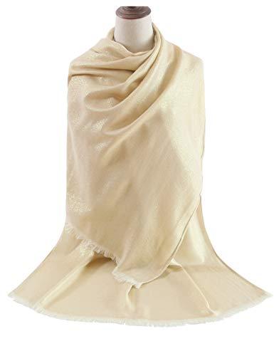 Dress Silk Draped - MissShorthair Women's Metallic Soft Pashmina Shawl Wrap Scarf in Solid Colors