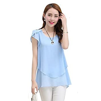 aff63edf26 Ladies Shirts and Blouses Women s Solid Blue Red Black Green Blouse ...