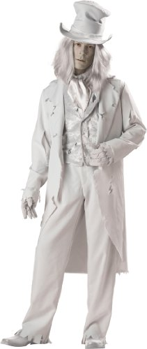 [InCharacter Costumes Men's Ghostly Gent Costume, Gray, X-Large] (Adult Ghost Groom Costumes)