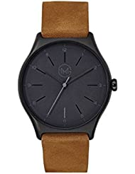 slim made one 06 - Extra slim unisex watch in black / brown