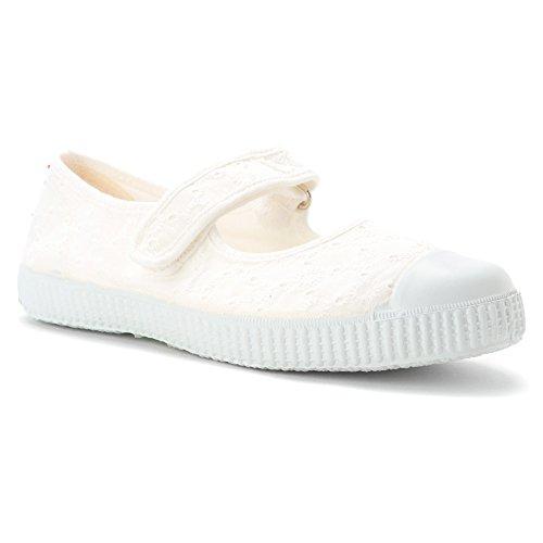 Weiße Bianco Stoff Schuhe 76998 duftenden Ballerinas Mädchen Tearing Cienta 5q8axn0x