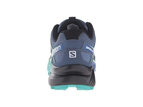 Salomon Speedcross 4 Trail-joggesko Kvinners Skifer Blå / Blå / Frisk Grønn